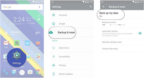backup android data with google drive