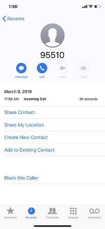 iphone call details