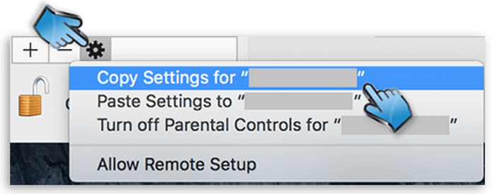 Copy Mac Parental Control Settings from One Account to Another