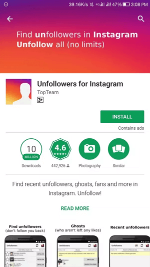 instagram unfollowers tracker