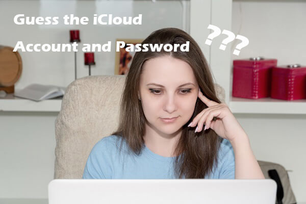 guess icloud account and password