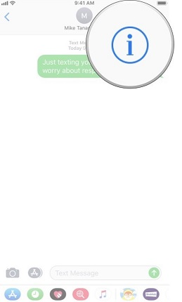 imessage tap contact icon