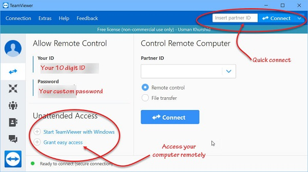remote access someone's computer with teamviewer