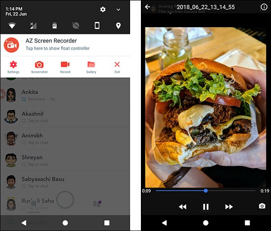 screen recorder for snapchat