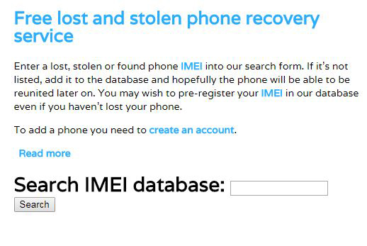 Using the IMEI Number
